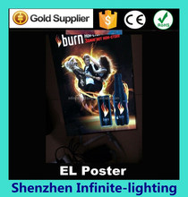 new products 2015 innovative product electronics animated lighting el sign / electroluminescent poster