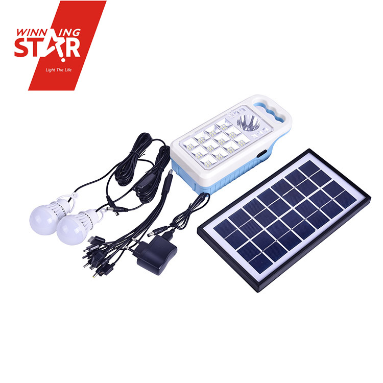 solar system including the host 3.5 W solar panels with 3 meter 2 sets of plastic bulbs 3 meter with switch
