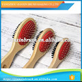 cleaning small brush hair cutting function hard wooden handle hairdressing neck brush