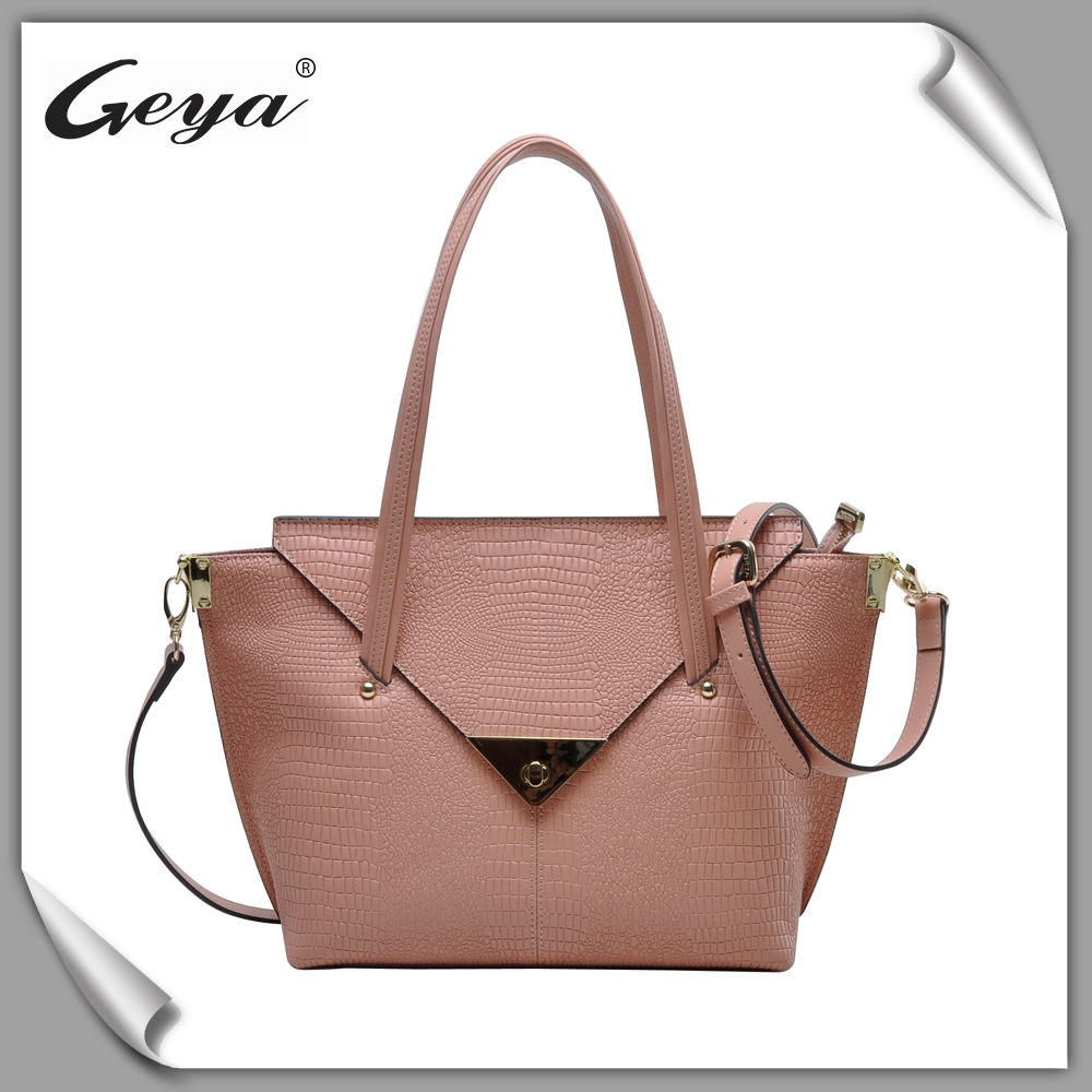 Top quality classical style light golden hardware fashion handbag 2016 women bag