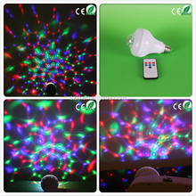 Laser disco di party light 12v dc led light 8w battery operated led light bulb