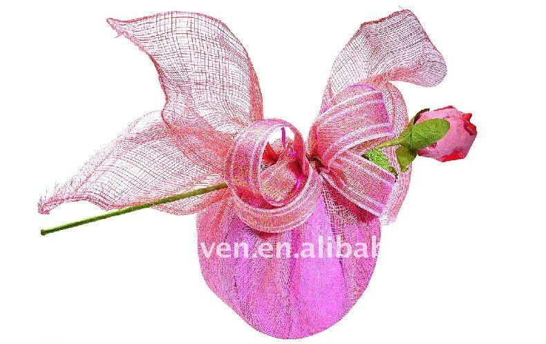 Cheap fancy gift mesh wraps/flower wrapping mesh