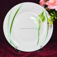 cheap white ceramic plate with different size ,plain ceramic plates