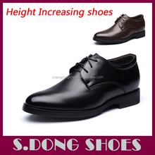 2017 New Leather gao moda height increase shoes for men
