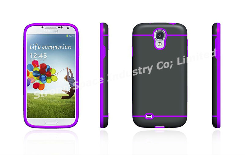 Hybrid TPU soft and hard case for Samsung Galaxy S4