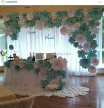 2016 hot Giant paper flowers wall wedding flowers
