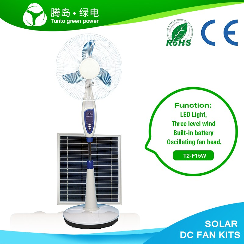 "Hot selling 16"" electric solar powered stand fan with full copper motor"