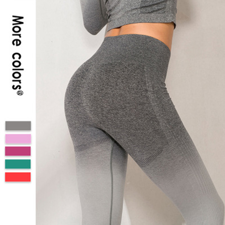 Womens High Waist Leggings Seamless scrunch butt yoga Pants Workout Tights seamless leggings