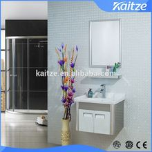 2016 white High Gloss Bathroom Stainless Steel Furniture