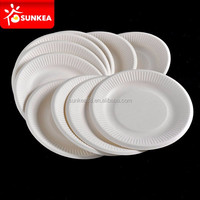 Cheap biodegradable corrugated disposable paper plate