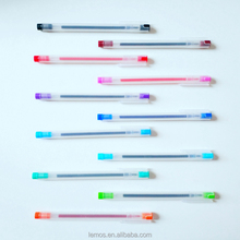 Korea cool simple style imported gel 12 color whole muji pen