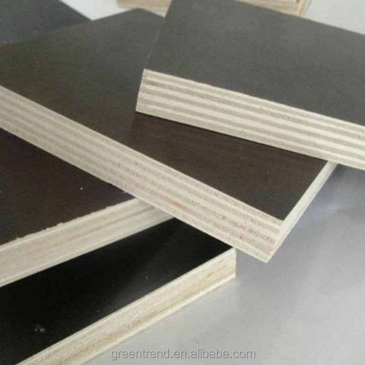 Linyi Greentrend 30mm anti slip poplar film faced plywood for container