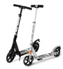 2017 100% aluminum material two big wheels adult kick scooter