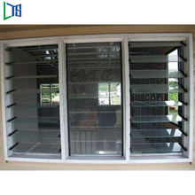 Anti-theft design aluminum glass window for commercial building