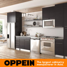 OPPEIN modern new design customized modular melamine kitchen cabinets