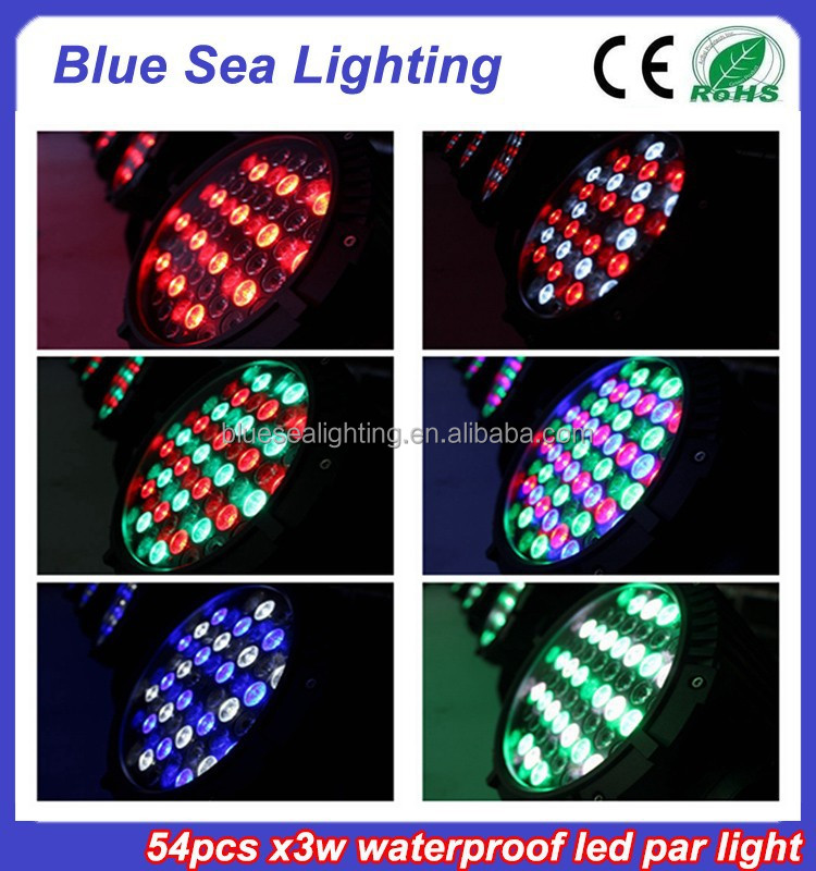 2015 hotsale 54pcs x 3w stage light disco equipment IP65 led bar