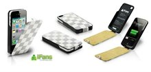 iFans power and protection External Battery Case for iPhone 4 with cover