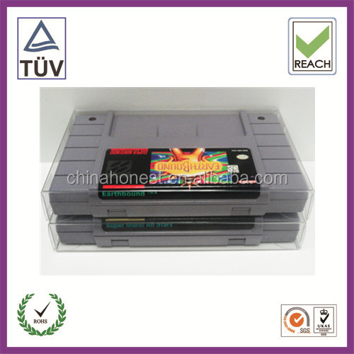 video games Clear Plastic Box Protectors for N64, SNES, NES video games