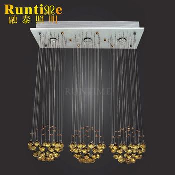 2017 Decoration Designs Modern Top Quality Hanging Crystal Chandelier with 3 led lights Model RT98003-3