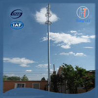 40m Telecommunication Steel Monopole Tower
