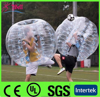 TOP 1.2m pvc or tpu inflatable body zorbing ball for kids/ inflatable belly bumper ball