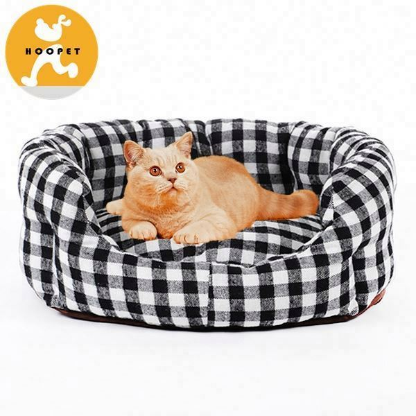 Shepherd check cute dog beds with thick cushion