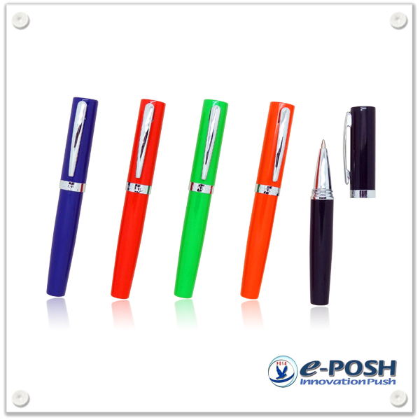 Mini size portable cap-off ball point pen