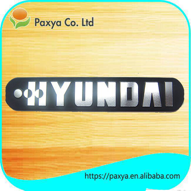 custom metal logo stickers aluminum extrusion nameplate