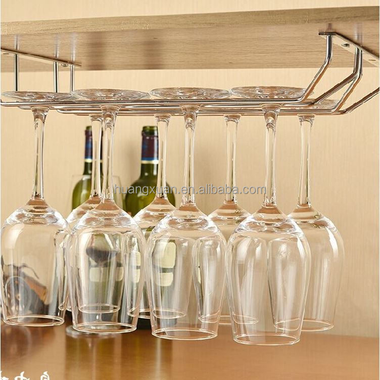HuangXuan stainless steel wall hanging wine glass rack