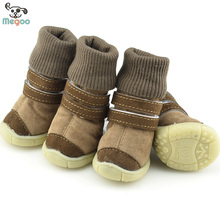 Leisure Doggie Booties Soft Berber Fleece Warm Dog Booties For Snow
