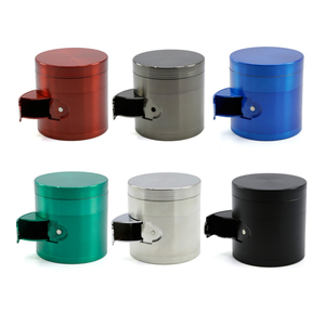 High Quality Weed Herb Grinders 4 Layers Colorful Zinc Herb And Spice Grinder Weed Tobacco Grinder With Side Open