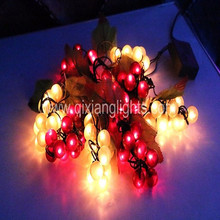 96L Waterproof LED Rice Bulb 110V IP65 PVC grape string light with controller