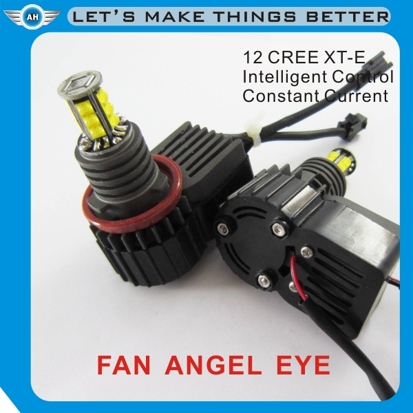 Brighter light led car logos with names lighting angel eye style
