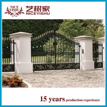 Antique Wrought Iron Driveway Gate,double Door Iron Gates,used Wrought Iron Door  Gates