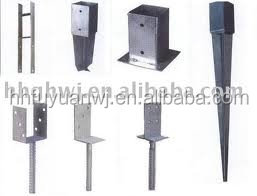 galvanized steel post support/pole anchor/grounf anchor for metal and wood fence (factory)