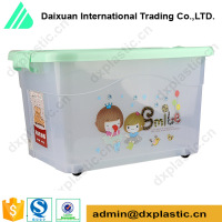 transparent multifunction plastic box with lock and key
