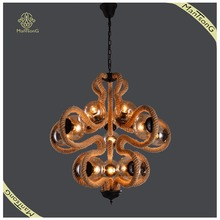 Novelties Unique Large Lamps For Home Villa E27 Rope Chandelier Pub and Bar Special Artificial Lamp