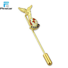 Wholesale Cheap Custom Metal Soft Enamel Long Needle Lapel Pins