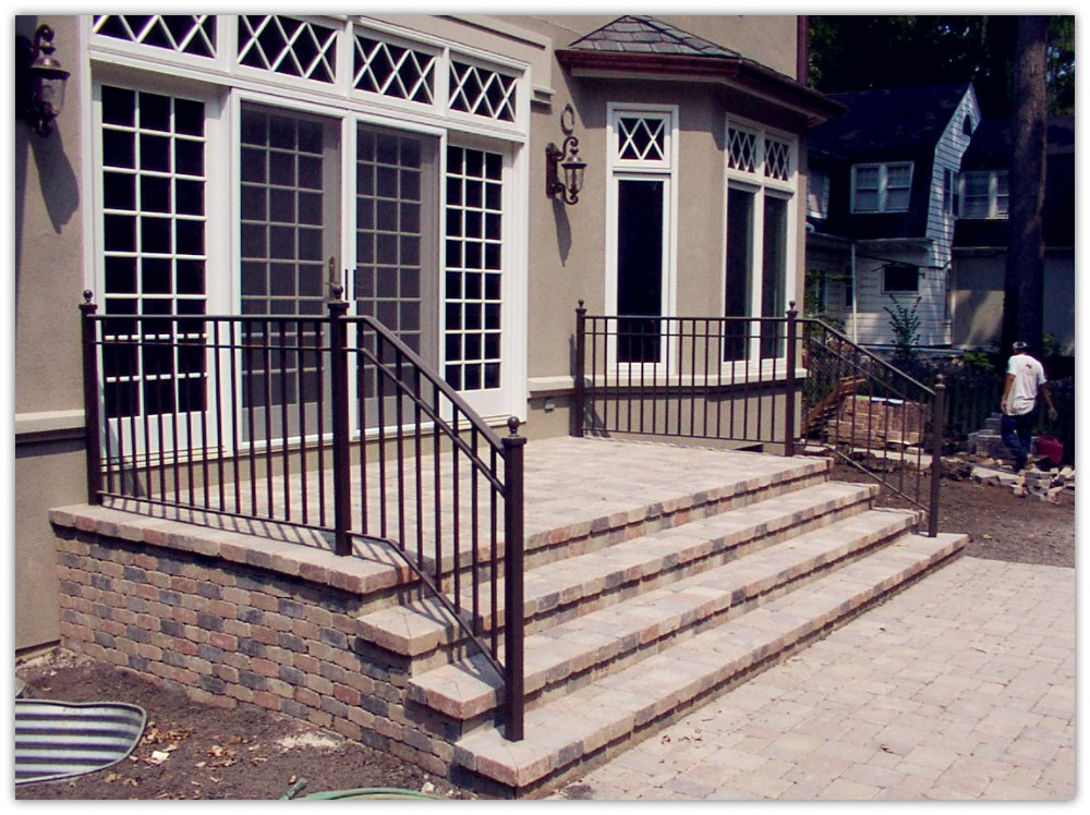 Rustproof wrought iron railings metal railing outdoor - Wrought iron handrails for exterior stairs ...