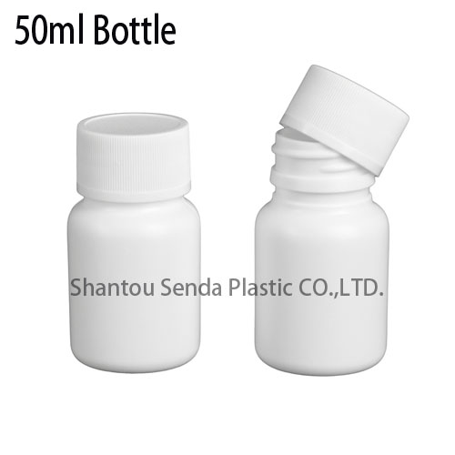 PE plastic bottle chinese supplier good sealing bottles packaging & printing pill capsule bottle 50ml