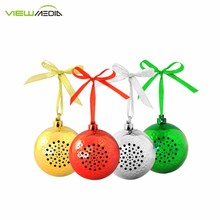 2017 Round Shape Jingle Bell Bluetooth Speaker Christmas Ball Speaker