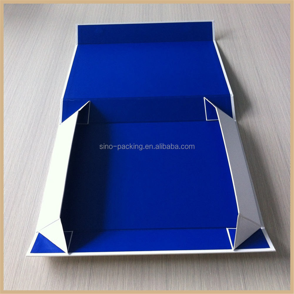 cardboard customized logo print paper folding gift box
