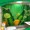 Bathroom Curtains Fruits Clear Shower Curtain
