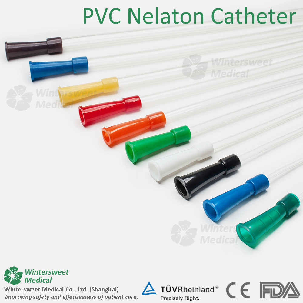 Single Use Hydrophilic Nelaton Urinary Catheter with water sachet,catheter tube