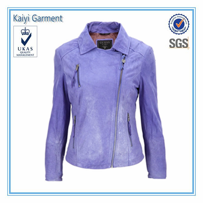 Purple leather jacket cheap wholesale brand name clothes