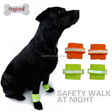 Free shipping 2pcs per set Reflecting safety dog wristband Pet Wristband