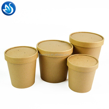 Disposable paper take away hot soup cup