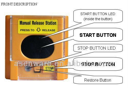 Automatic Gas Controller Manual Release Station, Fire Protection System