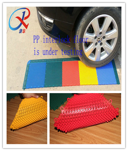 Colorful pp interlocking flooring for indoor and outdoor sports court uesd