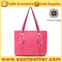 E1411 lasted model stylish studded big office shoulder bags handbag lady